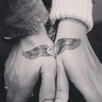 Эскизы парных тату для влюбленных