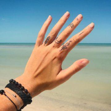 Эскизы тату для девушек на пальцах