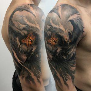 Эскизы тату на плечо для мужчин