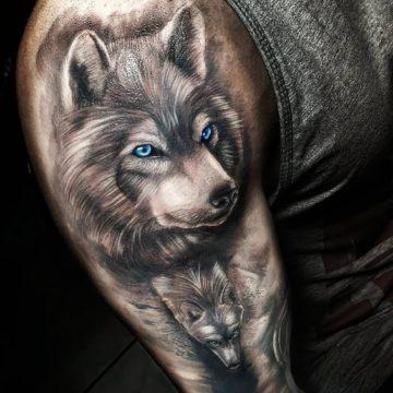 Значение тату волк