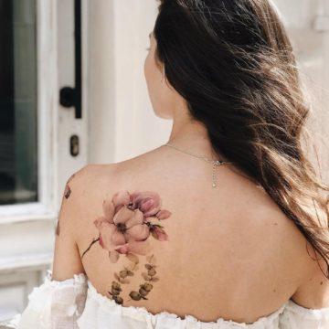 Фото тату на спине для девушек
