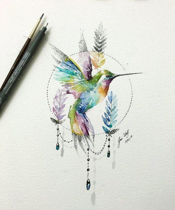 Значение тату колибри4